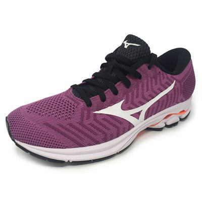 Mizuno Wave Knit R1 Ladies Running Shoes - Angled