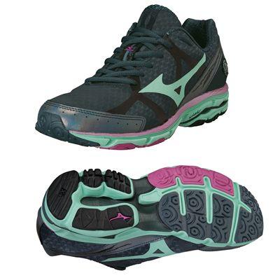Mizuno Wave Rider 17 Ladies Running Shoes - Grey