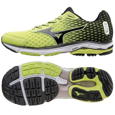 size 40 6f567 a02fb Mizuno Wave Rider 18 Mens Running Shoes - Sweatband.com