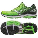Mizuno Wave Rider 19 Mens Running Shoes-Green-Silver-Black