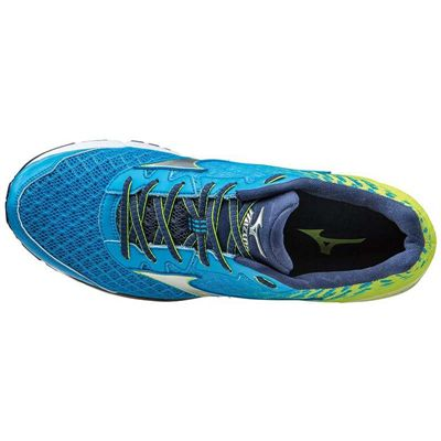 Mizuno Wave Rider 19 Mens Running Shoes Top View