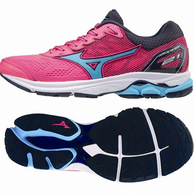 Mizuno Wave Rider 21 Ladies Running Shoes - Pink
