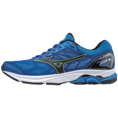 Mizuno Wave Rider 21 Mens Running Shoes - Blue - Side