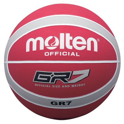 Molten BGR Coloured Basketball - White/Red