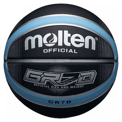 Molten Deep Channel Basketball-Blue And Black Image