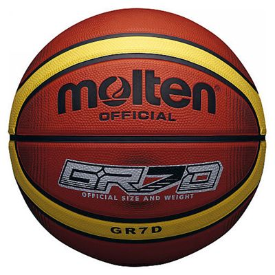 Molten Deep Channel Basketball-Orange And Yellow Image