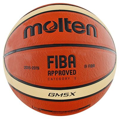 Molten GMX Parallel Pebble FIBA Leather Basketball-Size 5