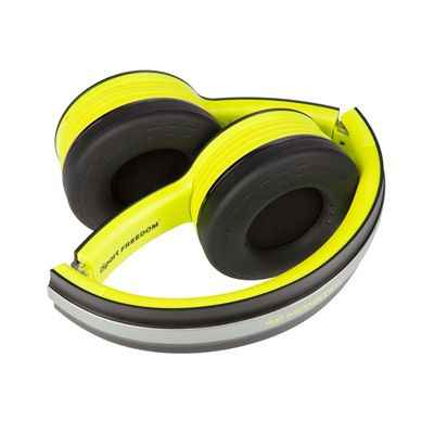 Monster iSport Freedom Wireless Bluetooth Sport Headphones - Green - folded