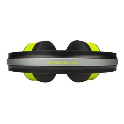 Monster iSport Freedom Wireless Bluetooth Sport Headphones - Green - top view