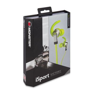 Monster iSport Victory Sport Headphones-Green-Box
