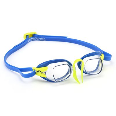 MP Michael Phelps Chronos Swimming Goggles - BlueLime