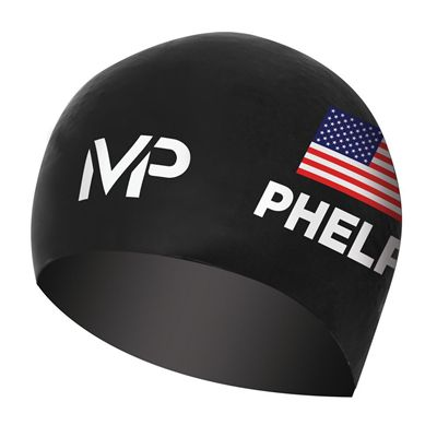 MP Michael Phelps Race Limited Edition Swimming Cap - Black