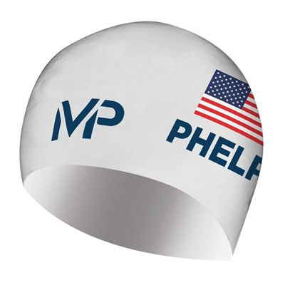 MP Michael Phelps Race Limited Edition Swimming Cap - White