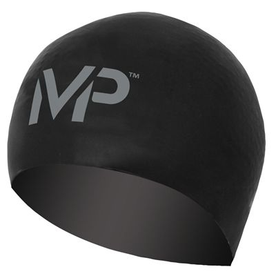 MP Michael Phelps Race Swimming Cap-Black/Silver