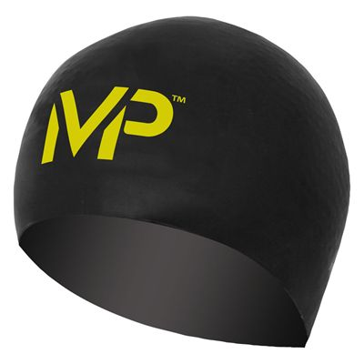 MP Michael Phelps Race Swimming Cap-Black/Yellow
