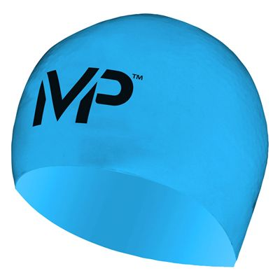 MP Michael Phelps Race Swimming Cap-Blue/Black
