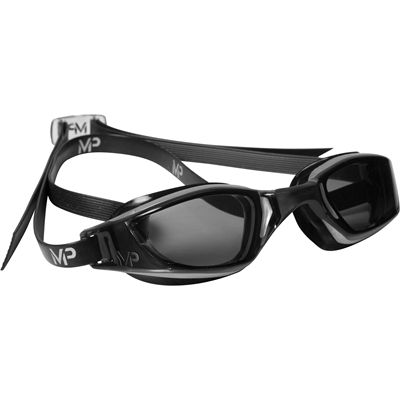 MP Michael Phelps Xceed Swimming Goggles-Tinted Lens-Black/Grey