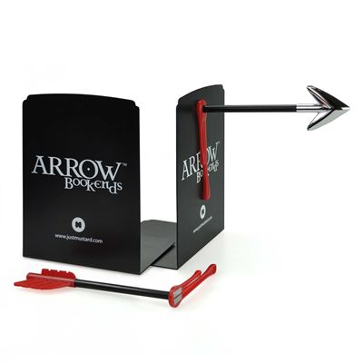 Mustard Arrow Magnetic Bookends
