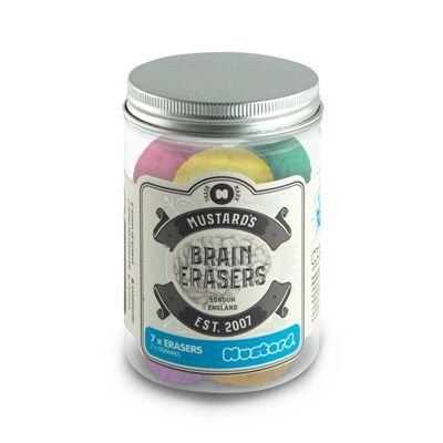 Mustard Brain Erasers - Jar