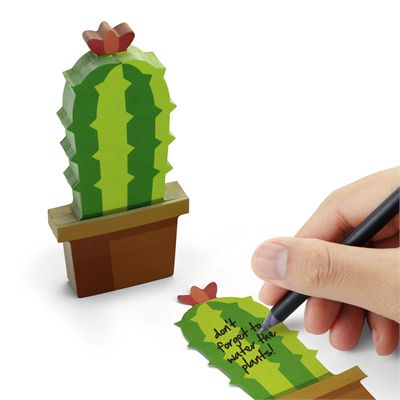 Mustard Cactus Sticky Notes - In Use