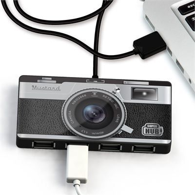 Mustard Camera Super Hub 4 Ports USB Hub-Connected
