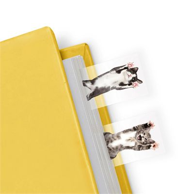 Mustard Cat in a Book Page Markers