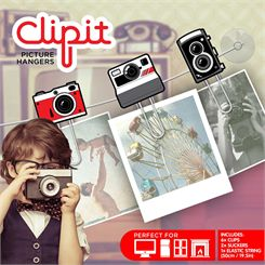 Mustard ClipIt Cameras Picture Hangers