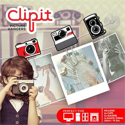 Mustard ClipIt Cameras Picture Hangers - Image 1