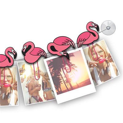 Mustard ClipIt Flamingos Picture Hangers Image 1