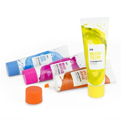 Mustard Colour Pro Paint Tube Highlighters Image