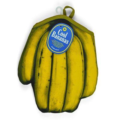 Mustard Cool Bananas Pop Art Inspired Oven Glove Image