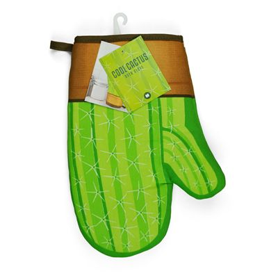 Mustard Cool Cactus Shaped Oven Glove Image