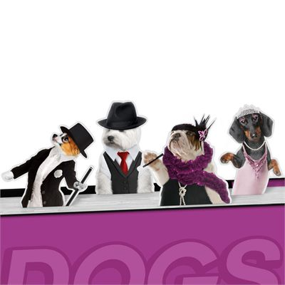 Mustard Dancing Dogs Magnetic Bookmarks