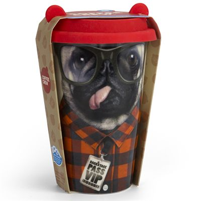 Mustard Dog Coffee Crew Reusable Coffee Cup - Packaging