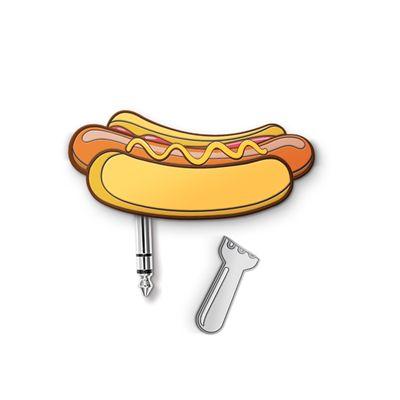 Mustard Fast Food Hot Dog Headphone Splitter-Image Cap