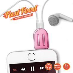 Mustard Fast Food Lolly Headphone Splitter
