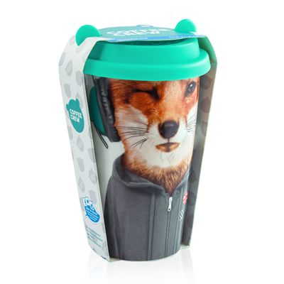 Mustard Fox Coffee Crew Reusable Coffee Cup-Packaging