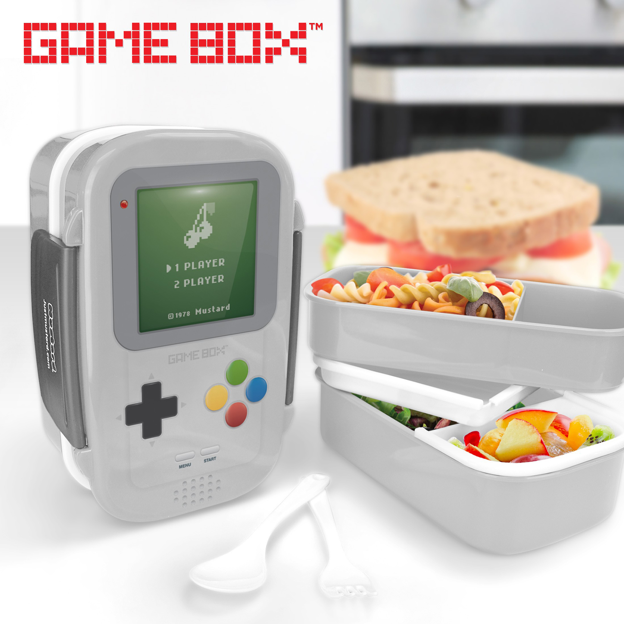Mustard Game Console Shaped Bento Box