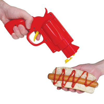 Mustard Gun Shaped Condiment Dispenser - Image 1