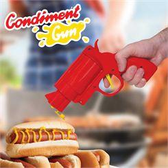 Mustard Gun Shaped Condiment Dispenser