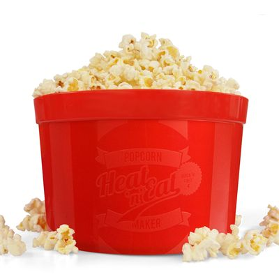 Mustard Heat n Eat Microwave Popcorn Maker