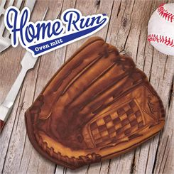 Mustard Home Run Baseball Oven Glove