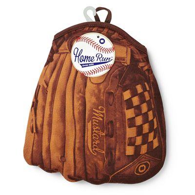 Mustard Home Run Baseball Oven Glove-Packaging