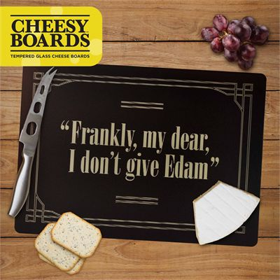 Mustard I Dont Give Edam Tempered Glass Cheesy Board Image