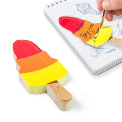 Mustard Ice Cream Cool Rocket Sticky Notes