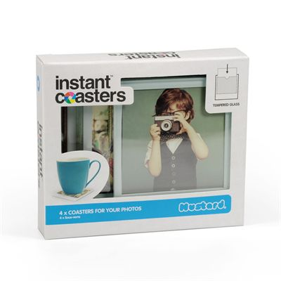 Mustard Instant Coaster Tempered Glass - Pack of 4 - Packaging