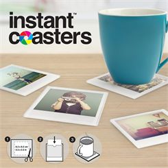 Mustard Instant Coaster Tempered Glass - Pack of 4