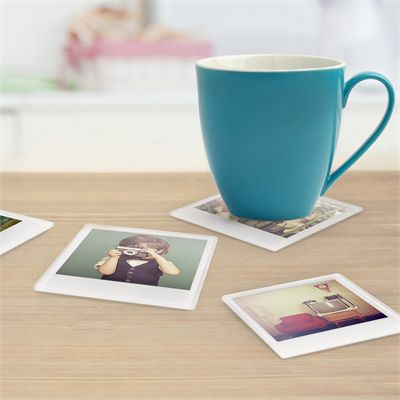 Mustard Instant Coaster Tempered Glass - Pack of 4 Image 1