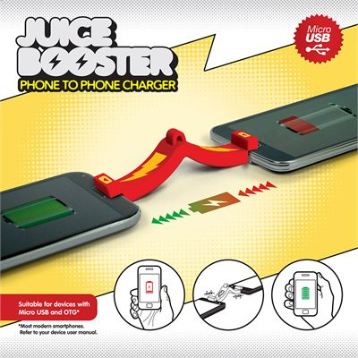 Mustard Juice Booster Phone to Phone Charger
