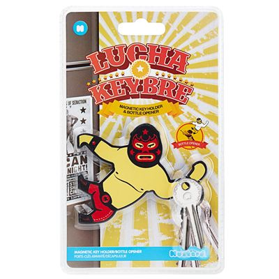 Mustard Lucha Keybre Magnetic Key Holder and Bottle Opener - Packaging